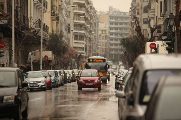 Thessaloniki on a rainy spring day