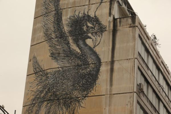 street art greece thessaloniki - bird